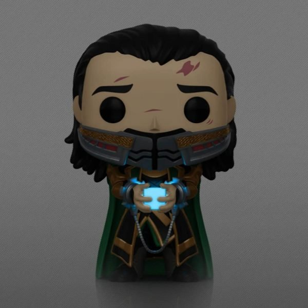 Funko Pop! Marvel Avengers: Endgame: Loki Holding the Tesseract Glow In The Dark (GTID) Funko Pop! Vinyl Figure - Funko Shop Exclusive