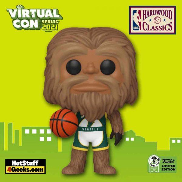 Funko Pop! NBA Mascots: Seattle - Squatch Funko Pop! Vinyl Figure - ECCC 2021 and Funko Shop Shared Exclusive