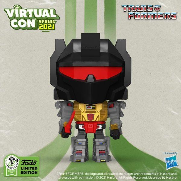 Funko Pop! Retro Toys: Transformers - Grimlock Funko Pop! Vinyl Figure - Funko Virtual Con Spring 2021, ECCC 2021, Spring Convention 2021, and GameStop Exclusive