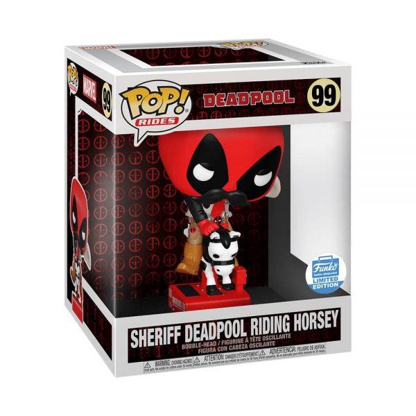 Funko Pop! Rides! Deadpool - Sheriff Deadpool Riding Horsey Funko Pop! Vinyl Figure - Funko Shop Exclusive