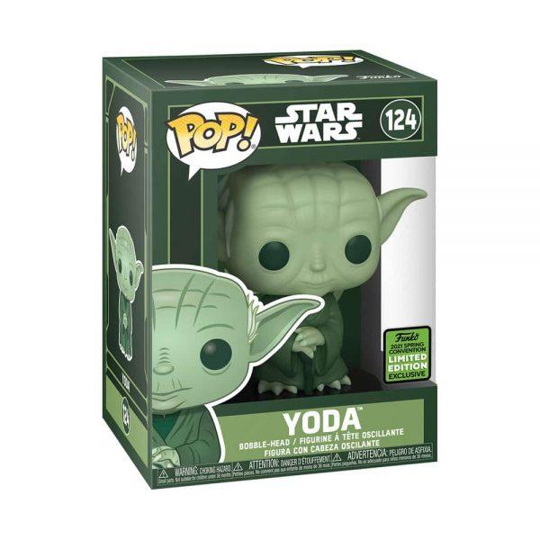 Funko Pop! Star Wars - Yoda (Military Green) Funko Pop! Vinyl Figure - ECCC 2021 and Target Shared Exclusive