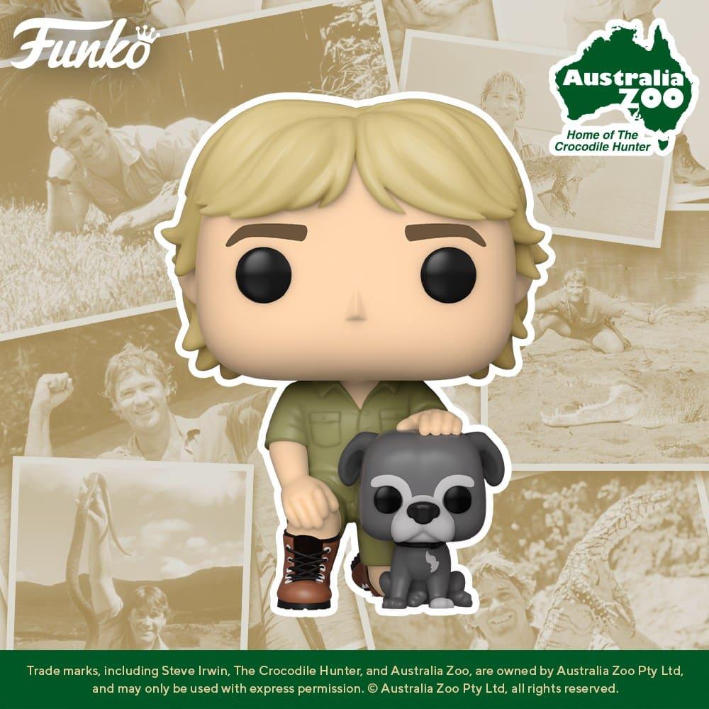 Funko Pop! Television: Hunter Steve Irwin with Sui Funko Pop! Vinyl Figure