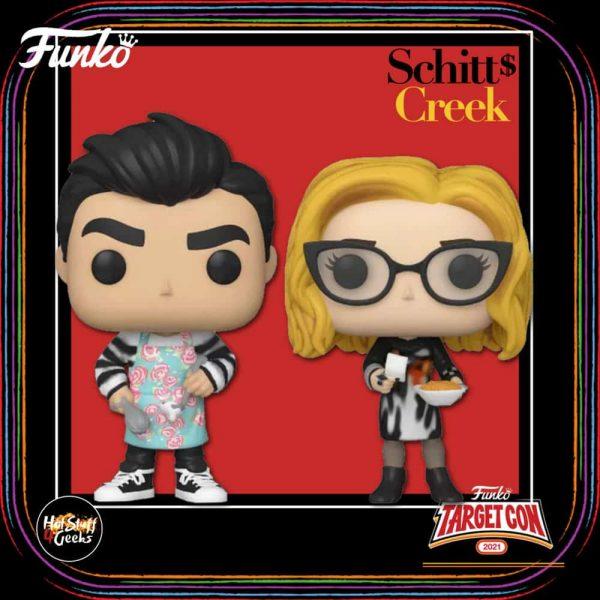 Funko Pop! Television: Schitt's Creek - Moira & David Cooking 2-pack Funko Pop! Vinyl Figure – Target Con 2021 Exclusive