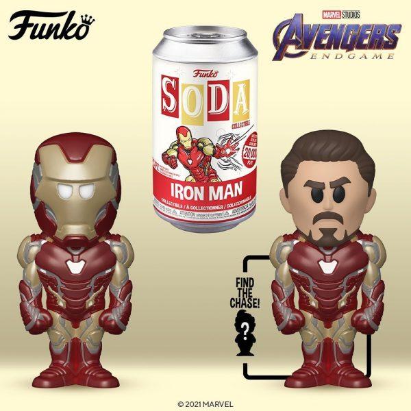 Funko Vinyl Soda Avengers Endgame - Iron Man Vinyl Soda Figure With Chase Variant