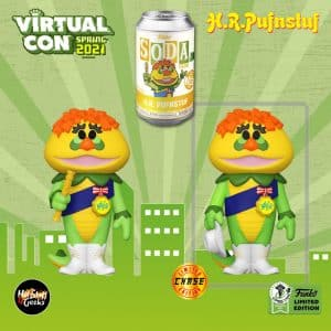 Funko Vinyl Soda: H.R. Pufnstuf Vinyl Soda Figure With Chase Variant - Funko Virtual Con Spring 2021, ECCC 2021, Spring Convention 2021, and Funko Shop Exclusive
