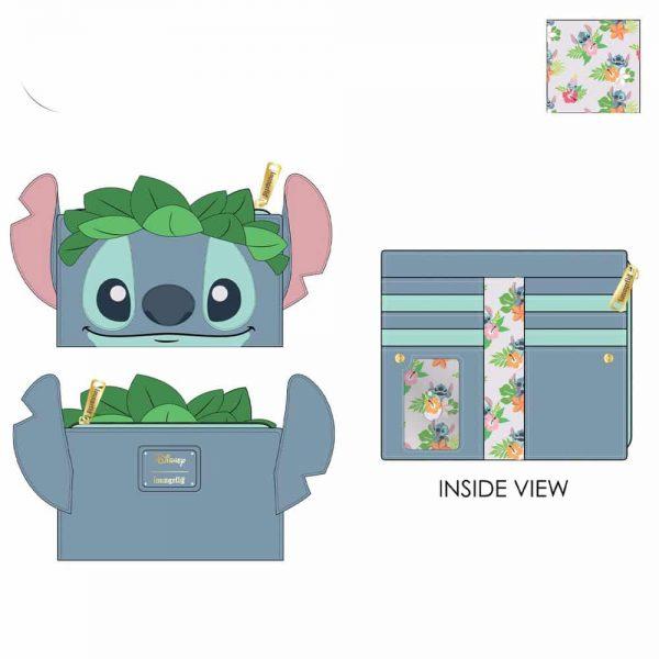 Loungefly Disney Lilo And Stitch Luau Cosplay Bifold Wallet