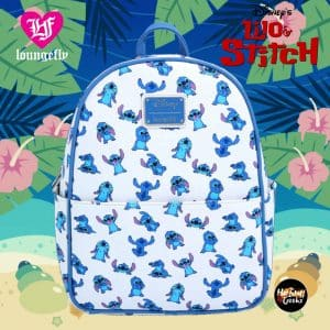 Loungefly Disney Lilo & Stitch Poses Allover Print Mini Backpack - BoxLunch Exclusive