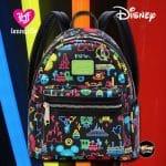 Loungefly Disney Park Glow In The Dark Mini Backpack - Disney Park Exclusive