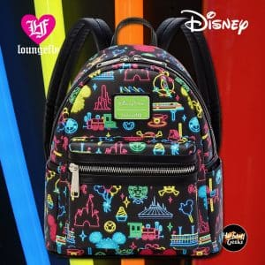 Loungefly Disney Park Glow In The Dark Mini Backpack - Disney Park Exclusive