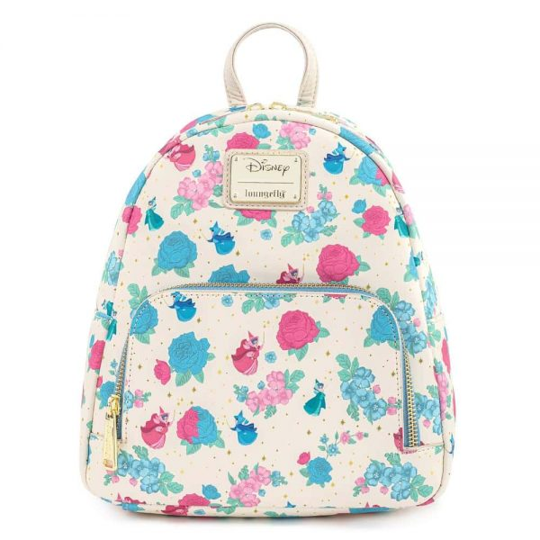 Loungefly Disney Sleeping Beauty Floral Fairy Godmother All Over Print (AOP) Mini Backpack