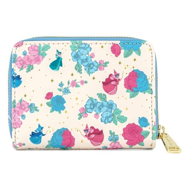 Loungefly Disney Sleeping Beauty Floral Fairy Godmother All Over Print (AOP) Zip Around Wallet