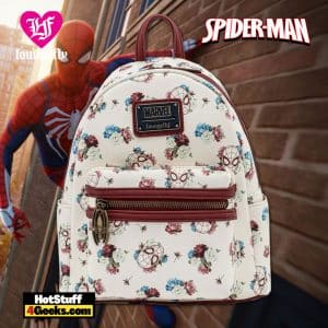 Loungefly Marvel Spiderman Floral Mini Backpack