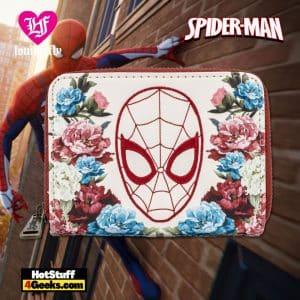 Loungefly Marvel Spiderman Floral Zip Around Wallet