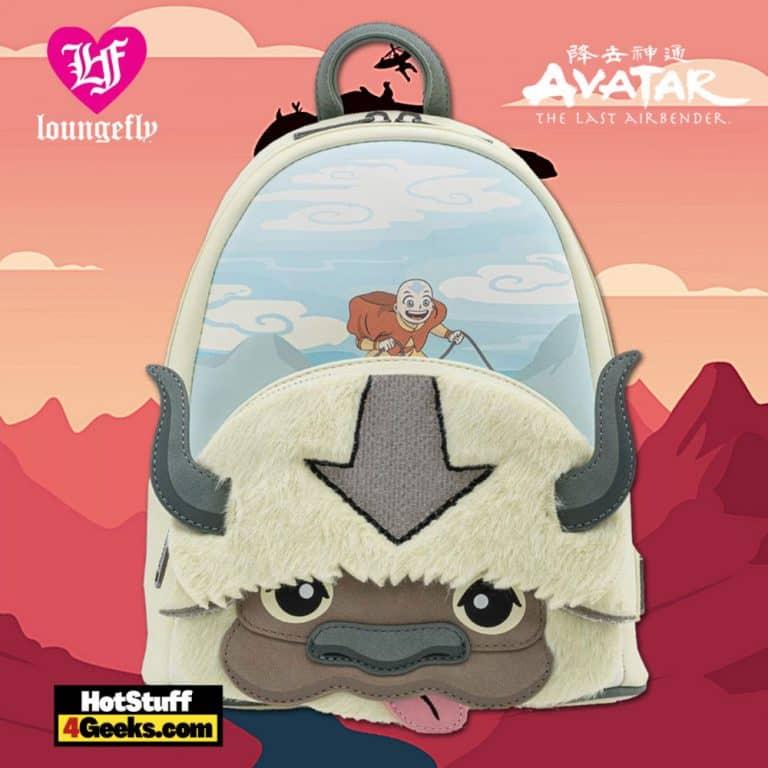 Loungefly Nickelodeon Avatar Aang Appa Cosplay Plush Mini Backpack