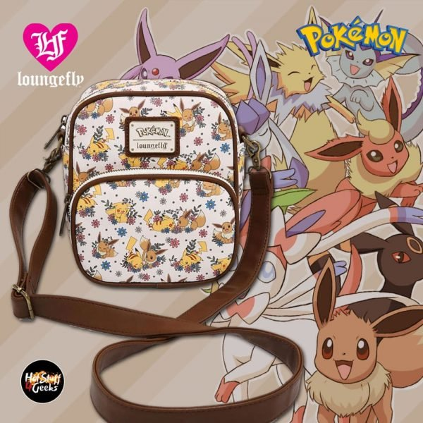 Loungefly Pokémon Pikachu & Eevee Floral Crossbody Bag - BoxLunch Exclusive