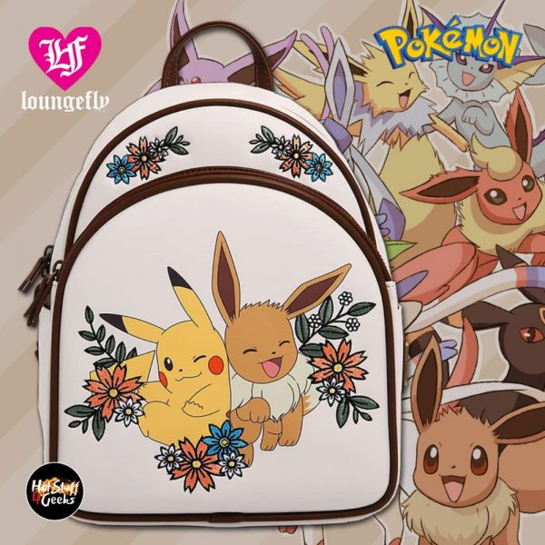 Loungefly Pokémon Pikachu & Eevee Floral Mini Backpack - BoxLunch Exclusive