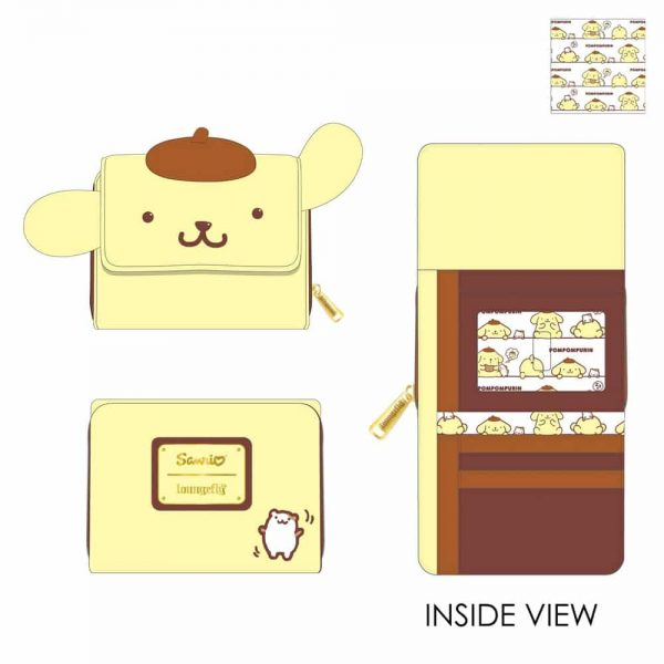 Loungefly Sanrio Pompompurin Cosplay Trifold Wallet
