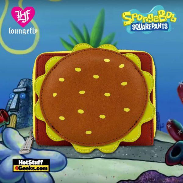 Loungefly Spongebob Squarepants Plankton Krabby Patty Zip Around Wallet
