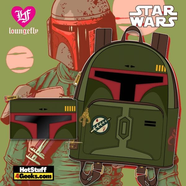 Loungefly Star Wars: Boba Fett Falp Wallet and Mini Backpack - March 2021 pre-orders coming on April 2021