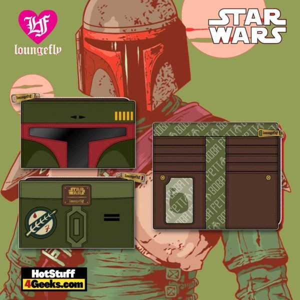 Loungefly Star Wars: Boba Fett Flap Wallet - March 2021 pre-orders coming on April 2021
