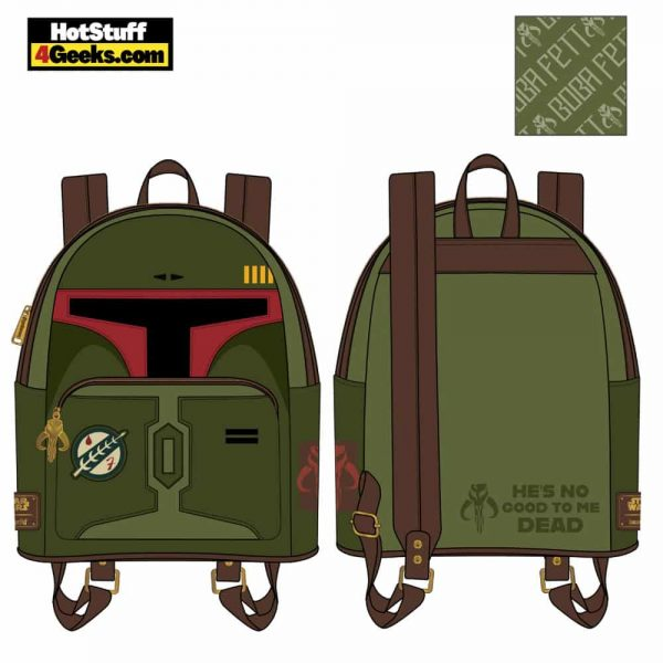 Loungefly Star Wars: Boba Fett He's No Good to Me Dead Cosplay Mini Backpack - March 2021 pre-orders coming on April 2021