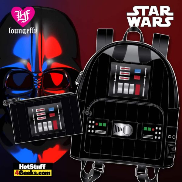 Loungefly Star Wars: Darth Vader Light Up Mini Backpack and Wallet - March 2021 pre-orders coming on April 2021