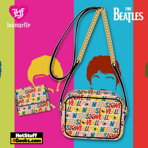 Loungefly The Beatles All You Need is Love Crossbody and Wallet - March 2021 pre-orders coming on April 2021