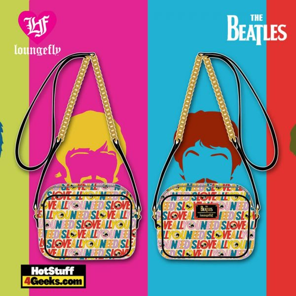 Loungefly The Beatles All You Need is Love AOP Crossbody - March 2021 pre-orders coming on April 2021