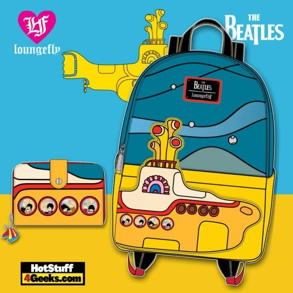 Loungefly The Beatles Yellow Submarine Mini Backpack and Wallet - March 2021 pre-orders coming on April 2021