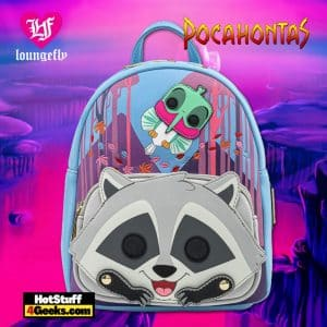 Pop by Loungefly Disney Pocahontas Meeko and Flit Earth Day Cosplay Mini Backpack - March 2021 pre-orders coming on April 2021.