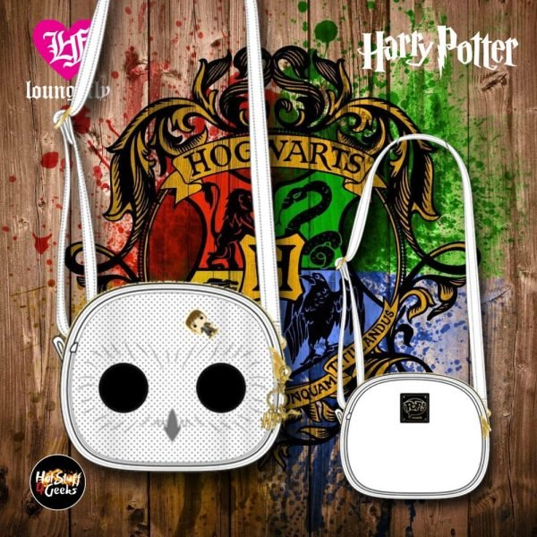 Pop! by Loungefly Harry Potter Hedwig Pin Trader Crossbody Bag