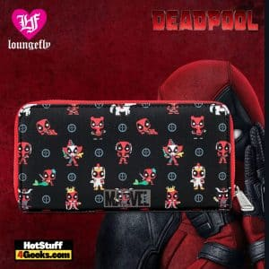 Pop by Loungefly Marvel Deadpool 30th AOP Zip Around Wallet