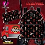 Pop by Loungefly Marvel Deadpool 30th Anniversary AOP Mini Backpack and Wallet, and Chimichangas Crossbody - March 2021 pre-orders coming on April 2021
