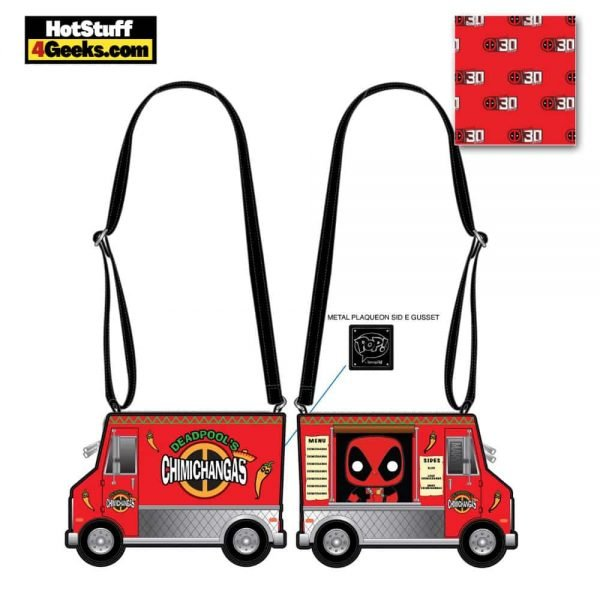 Pop by Loungefly Marvel Deadpool 30th Anniversary Chimichangas Crossbody - March 2021 pre-orders coming on April 2021