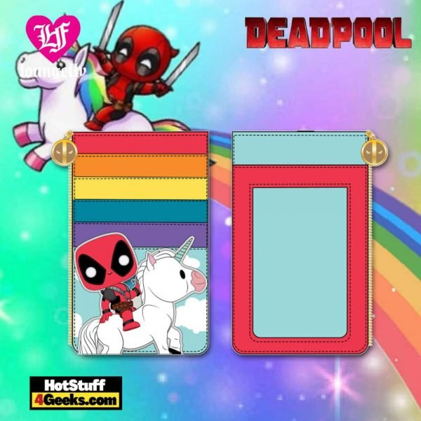 Pop by Loungefly Marvel Deadpool 30th Anniversary Unicorn Rainbow Cardholder - March 2021 pre-orders coming on April 2021