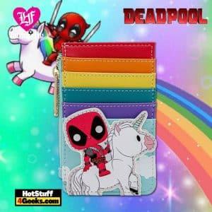 Pop by Loungefly Marvel Deadpool 30th Unicorn Rainbow Cardholder