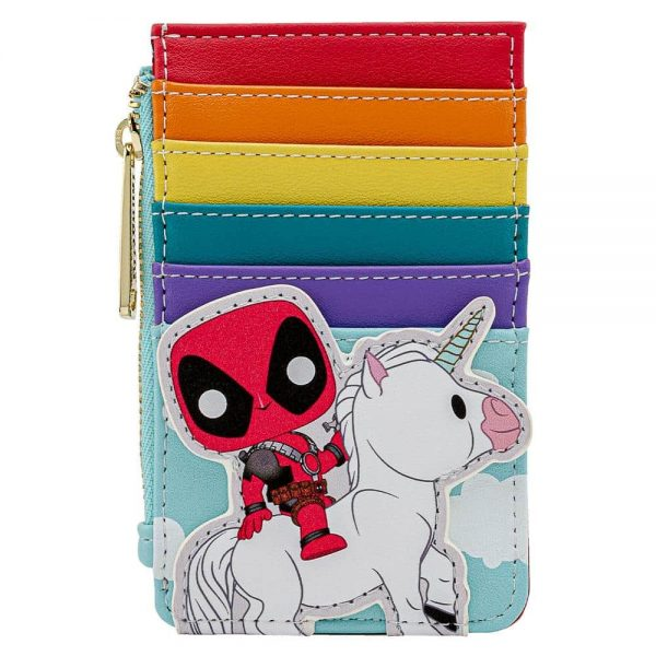 Pop by Loungefly Marvel Deadpool 30th Unicorn Rainbow Cardholder