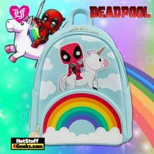 Loungefly Marvel Deadpool 30th Unicorn Rainbow