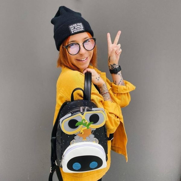 Pop by Loungefly Pixar Wall-E Eve Both Earth Day Cosplay Mini Backpack