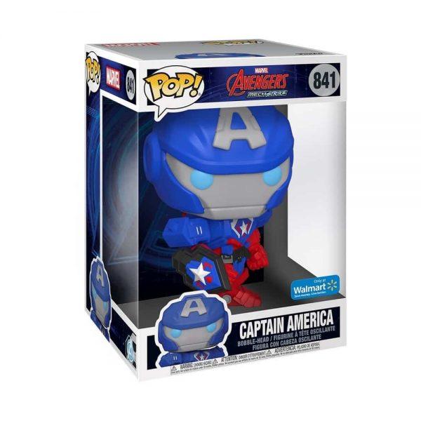 Funko POP! Marvel Avengers Mech Strike: Captain America 10 inch Jumbo Sized Funko Pop! Figure - Walmart Exclusive