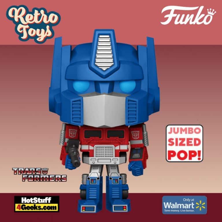 Funko POP! Retro Toys: Transformers - Optimus Prime 10-inch Jumbo Sized Funko Pop! Vinyl Figure - Walmart Exclusive
