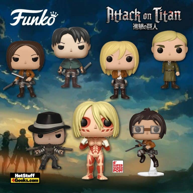 Funko Pop! Animation: Attack on Titan - Female Titan 6-Inch, Hange, Erwin One-Armed, Levi, Christa, Ymir and Kenny Funko Pop! Vinyl Figures