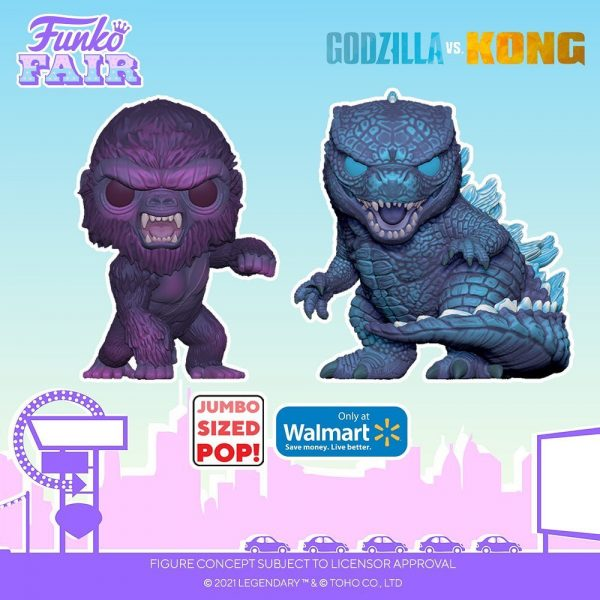 Funko Pop! Animation: Godzilla vs. Kong - Neo City Kong and Neo City Godzilla (City Lights) 10-inch Jumbo Size Funko Pop! Vinyl Figure - Walmart Exclusive