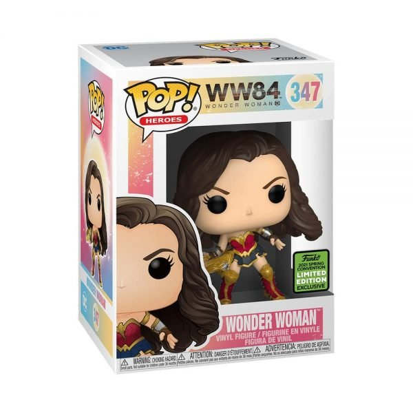 Funko Pop! DC Heroes - Wonder Woman With Tiara Boomerang (Metallic) Funko Pop! Vinyl Figure - ECCC 2021 and Barnes & Noble and BAM Shared Exclusive