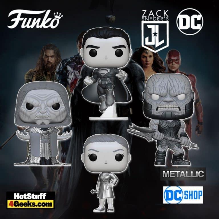 Funko Pop! DC Zack Snyder's Justice League 4-pack Metallic Set Funko Pop! Vinyl Figures - DC Shop Exclusive