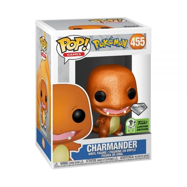 Funko Pop! Games: Pokémon - Charmander Diamond Glitter Collection Funko Pop! Vinyl Figure - ECCC 2021 and Target Shared Exclusive