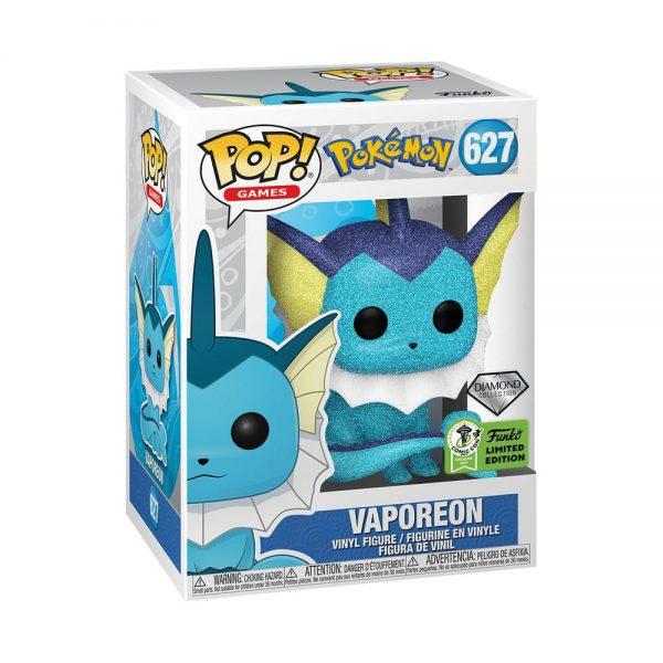 Funko Pop! Games: Pokémon - Vaporeon Diamond Glitter Collection Funko Pop! Vinyl Figure - ECCC 2021 and Barnes & Noble Shared Exclusive
