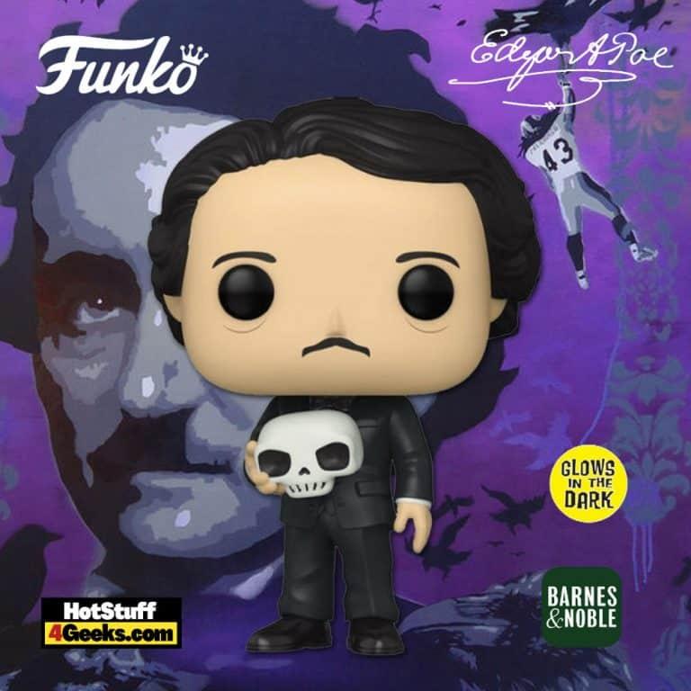Funko Pop! Icons: Edgar Allan Poe with Skull Glow In The Dark (GITD) Funko Pop! Vinyl Figure - Barnes & Noble Exclusive