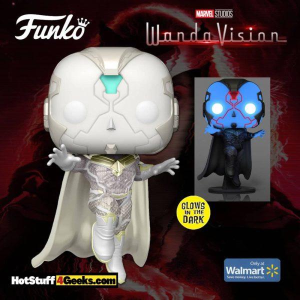 Funko Pop! Marvel Studios: Wandavision: The Vision Glow-In-The-Dark (GITD) Funko Pop! Vinyl Figure - Walmart Exclusive