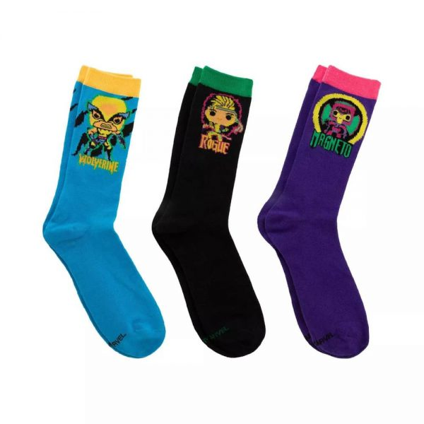 Funko Pop! Marvel X-Men Classic - 3pk Black Light Socks